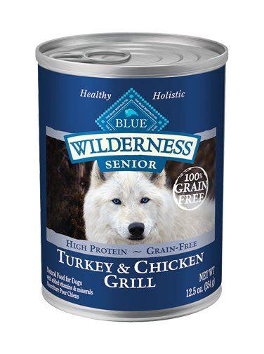 blue buffalo wilderness senior turkey chicken wet dog