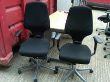 Black G64 task chairs, New style
