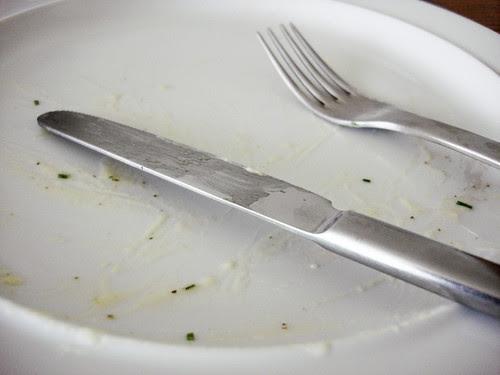 fertig gegessen