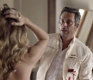 Romero leva um tiro (Foto: Globo)