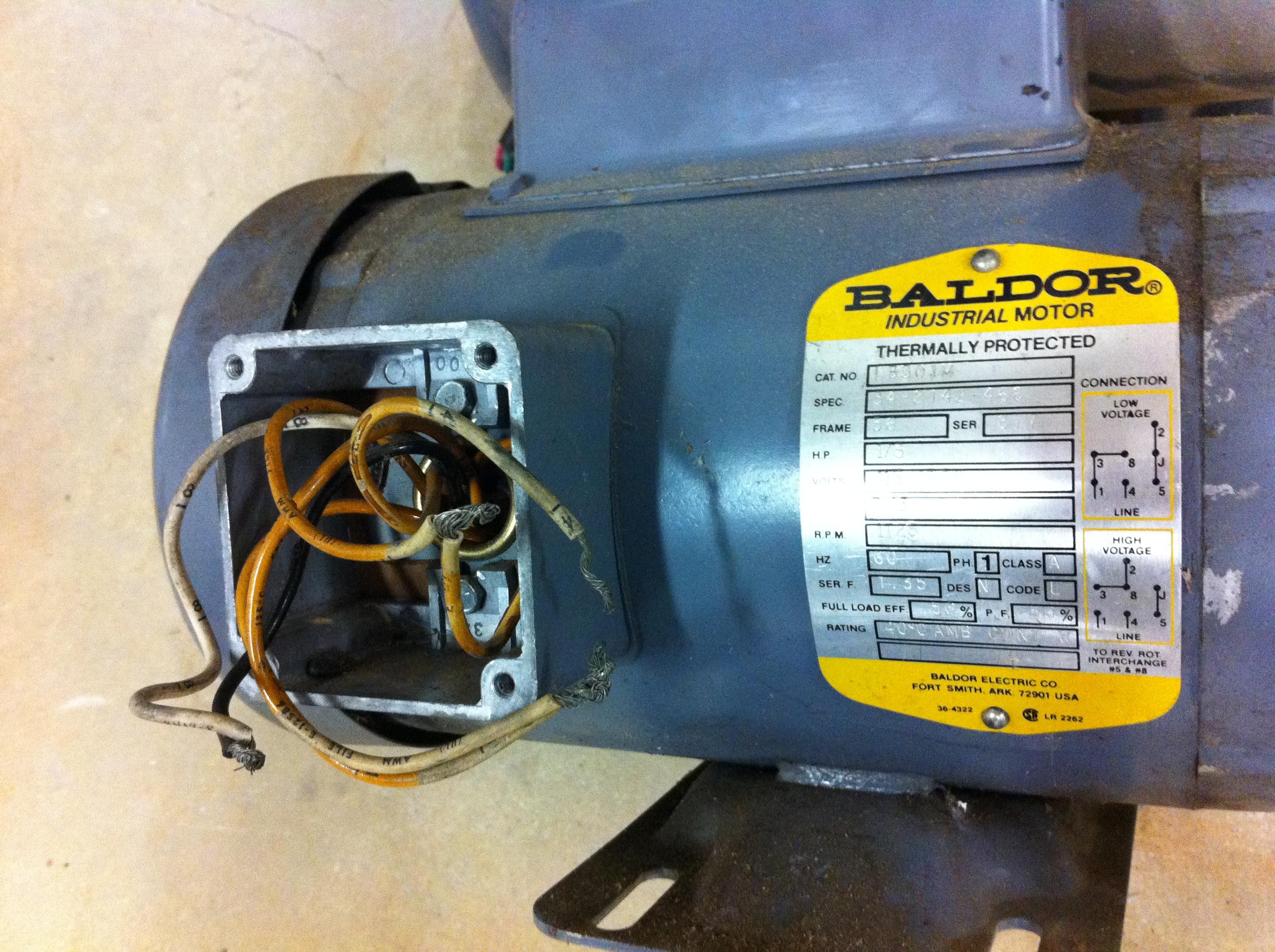 28 Baldor Motor Capacitor Wiring Diagram