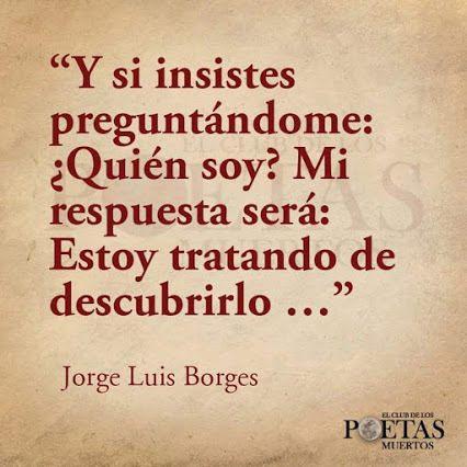 Jorge Luis Borges 5 Frases La Vache Rose Espagnole