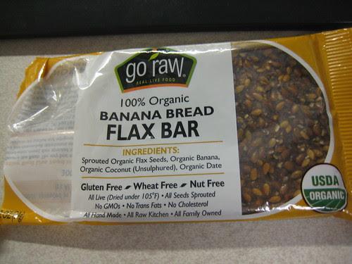 go raw Banana Bread Flax Bar