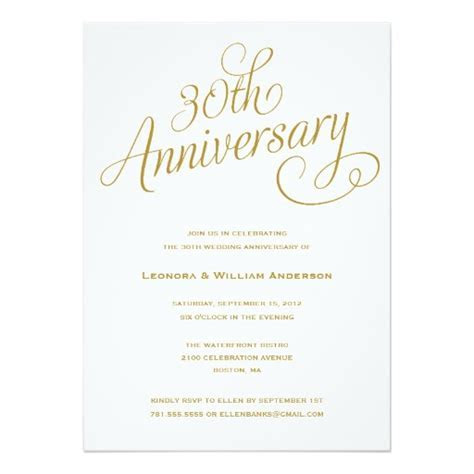 30Th   Wedding Anniversary Invitation Card