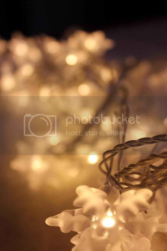 Schneeflocken Lichterkette