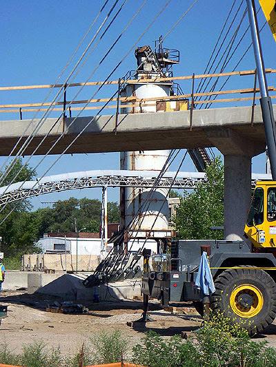 The cable anchors for the Hiawatha bridge