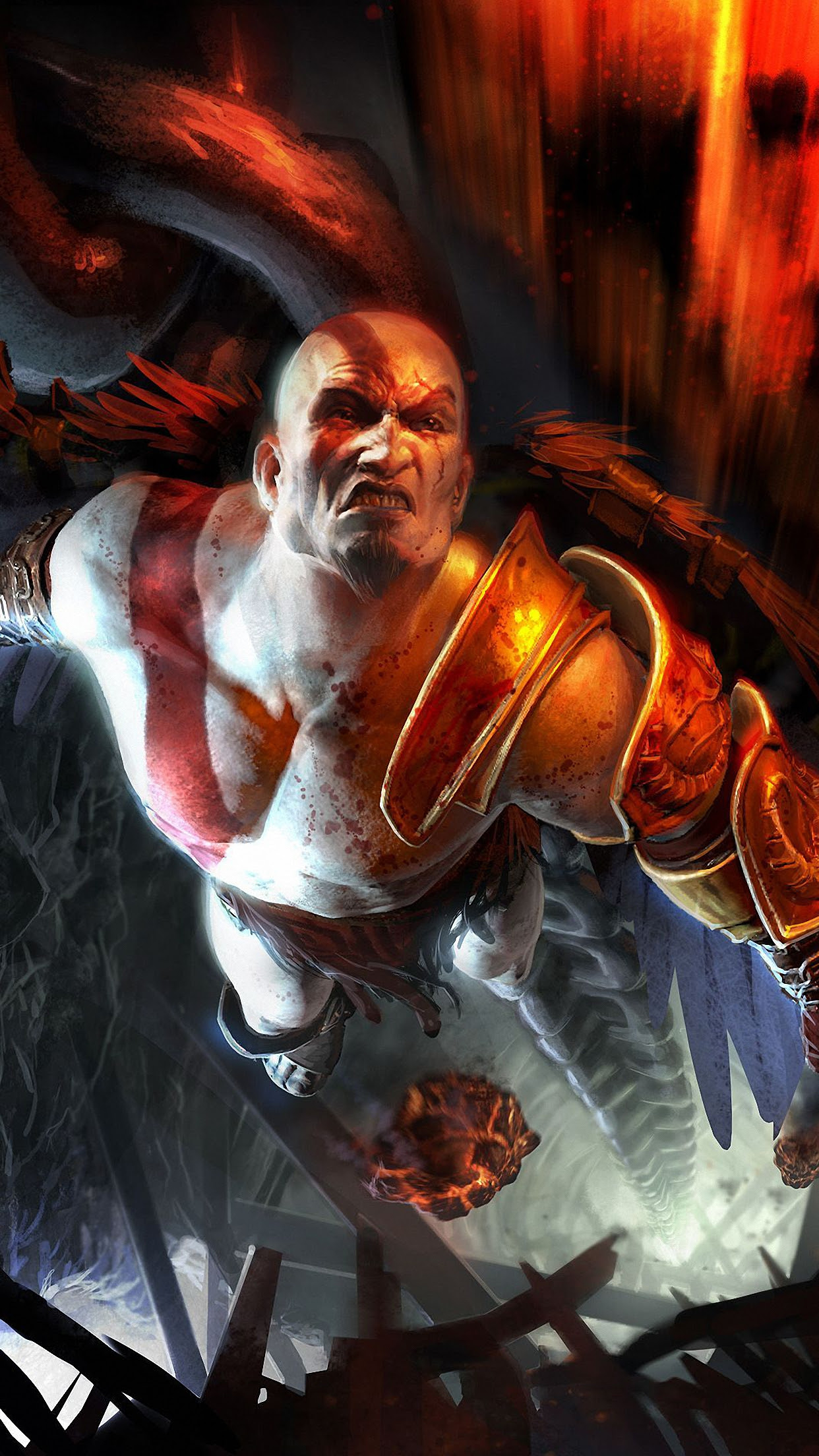 God Of War Kratos 2 Wallpaper For Iphone X 8 7 6 Free