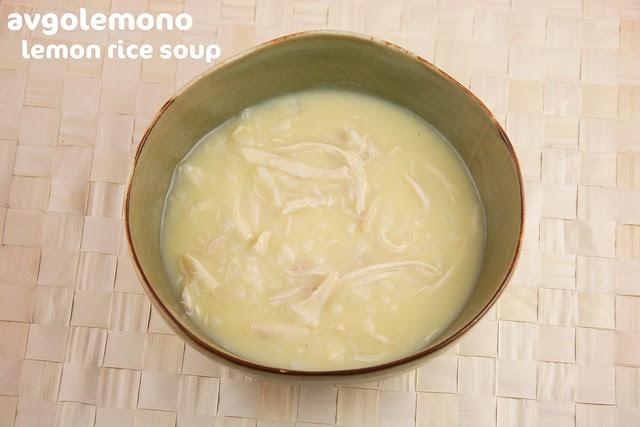 Avgolemono - Lemon Rice Soup - Lemon Week 2011