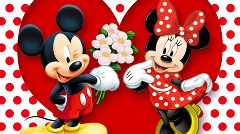 HD Background Mickey Mouse And Minnie Mouse Love Couple