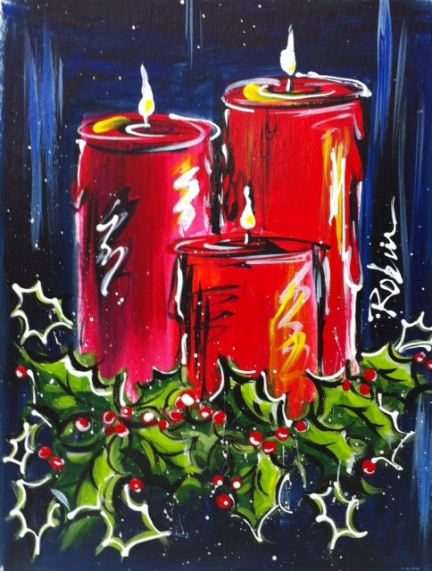 New Christmas Painting Ideas On Canvas