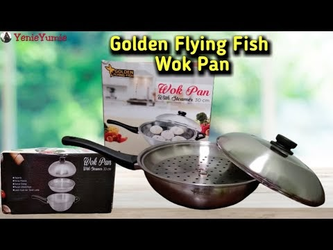 Review Wok Pan With Steamer Golden Flying Fish 30 CM