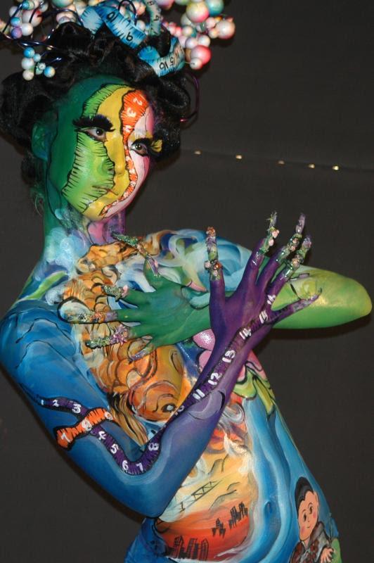 Korean Body Painting Model