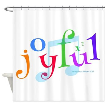 Joyful X 2 Shower Curtain