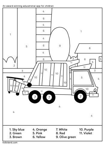 Download Free Color By Number 45 and educational activity ...