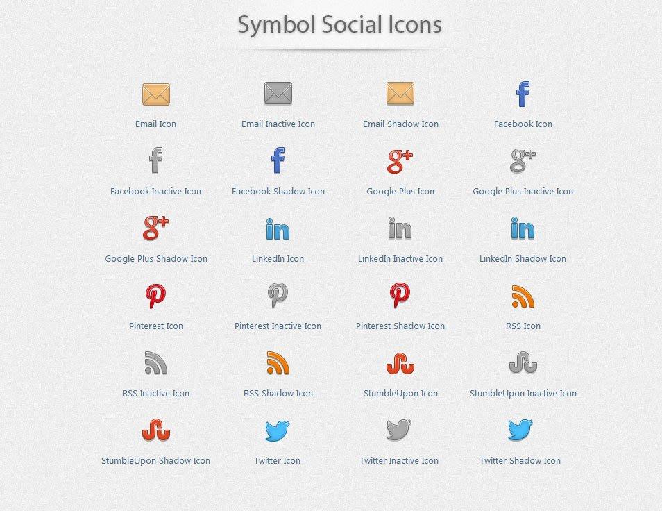 Symbol Social Icons