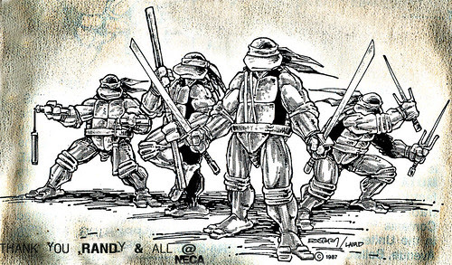 TMNT - The Iconic Stance ..by Kevin Eastman & Peter Laird ..((1987)) [[ Thanks to Randy & All @ NECA ]]
