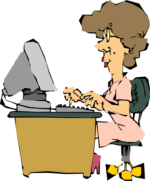 woman using a computer 1