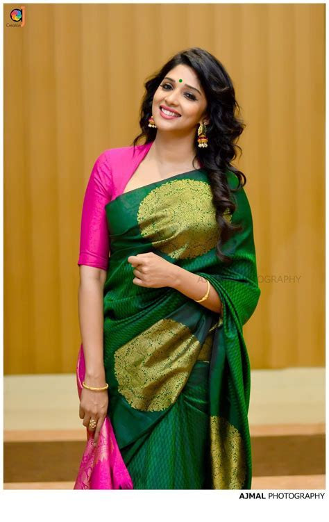 Nyla in gorgeous green pink   Sarees, salwars n lehenga