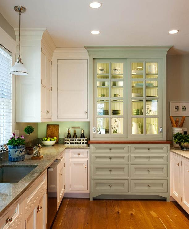 Integrated Hutch Cabinet - Country - kitchen - Crown Point ...