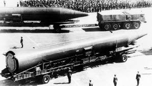 Russian SS-5 SKEAN intermediate range ballistic missile. Many of these were installed in Cuba. (Copyright unknown)