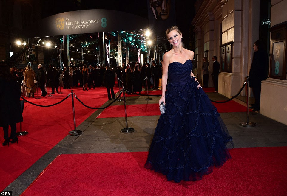 All-out glamour: Designer and model Laura Bailey had perhaps the most ballgown-like dress of the night, a full-skirted midnight blue number