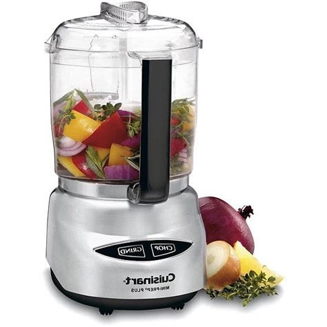 food processor cuisinart  cup mini prep  brushed