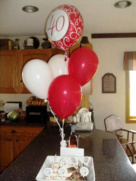 40th Birthday Centerpieces Homemade   Decorations Ideas