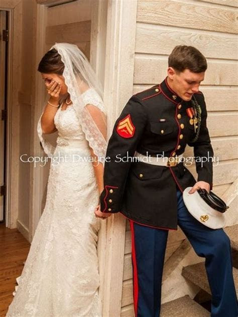 Emotional photo of Marine and bride praying goes viral