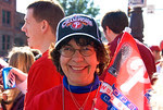 Phillies fan at 2008 World Series victory parade in Philadelphia