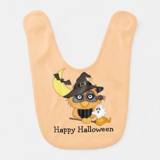 Halloween Owl Bib