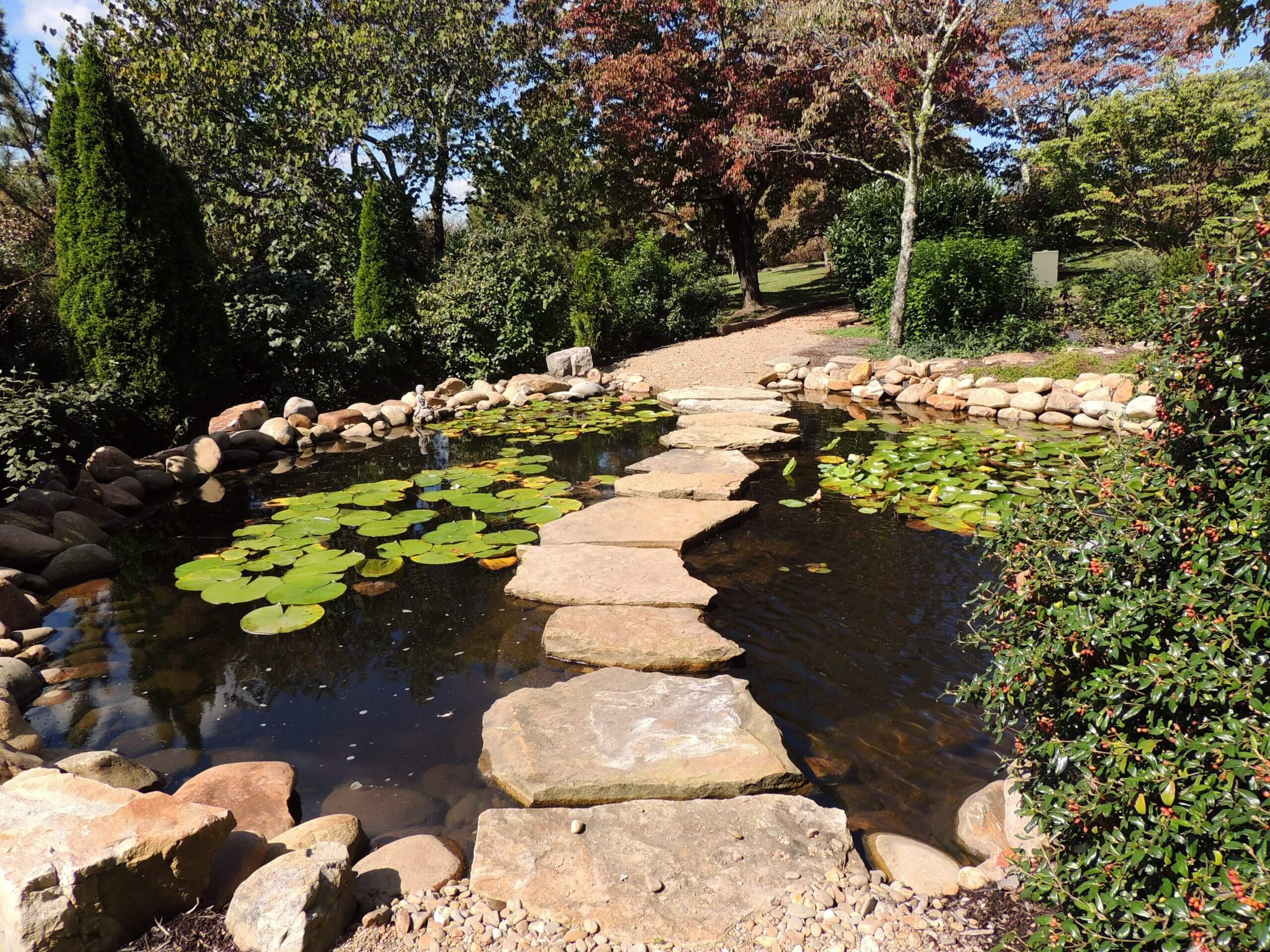 RS Earthen Bridge with Stepping Stones in Fountain City area of Knoxville