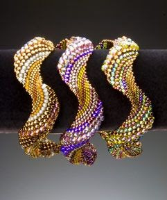 beautiful, undulating, delicious beadwork