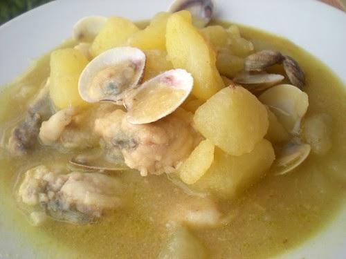 Cocinando entre olivos patatas con rape y almejas for Cocinando entre olivos