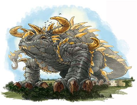 tarrasque images  pinterest monsters dragons  kite