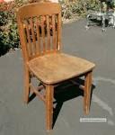 Vintage Antique Wooden Desk Chair Walnut Wood High Point Bending ...