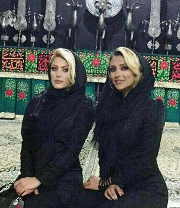 In recent years, Iranian women - especially in the capital, Tehran - have worn the mandatory scarf loosely on their head, drawing the ire of conservatives in the Islamic Republic. Pictured right isElham Arab
