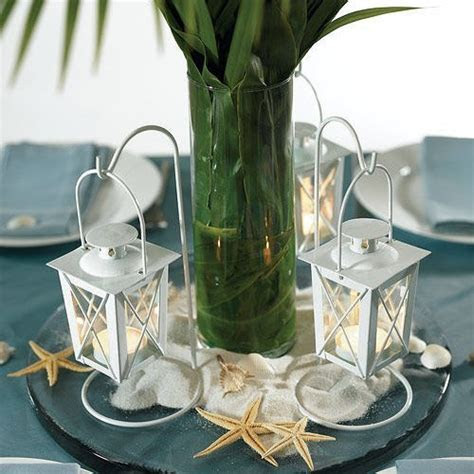 Mini White Lanterns with Hanger (Set of 2)