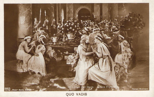 Alphons Fryland and Lilian Hall-Davis in Quo vadis? (1924)