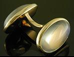 Moonstone and gold dress set. (J9320)