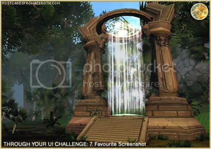 Postcards of Azeroth: Through Your Interface Challenge - Day 7 - Favourite Screenshot, by Rioriel of theshatar.eu