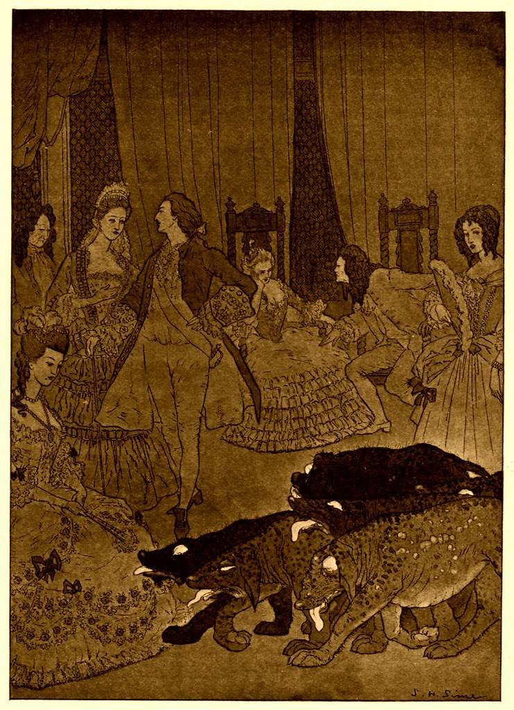 "Sidney Sime - ""A Herd Of Black Creatures"" (1908)"