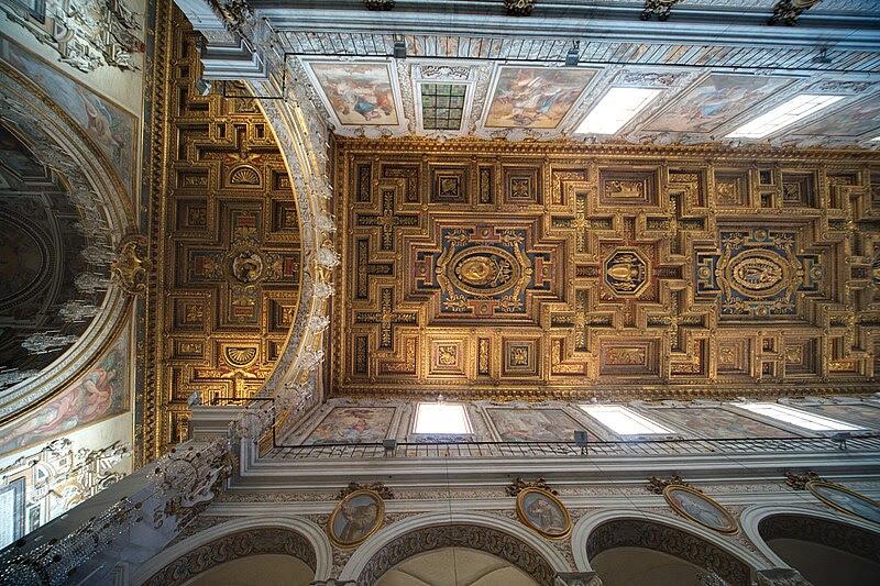 File:Santa Maria in Aracoeli Rome ceiling.jpg