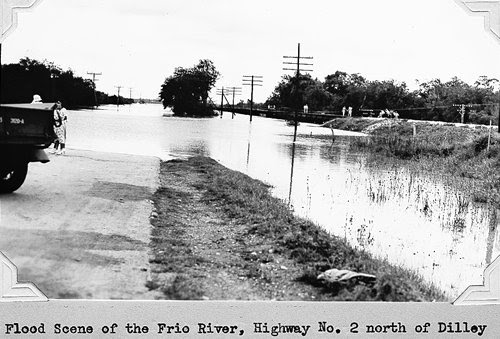 Frio River flood of 1935, north of Dilley, Texas