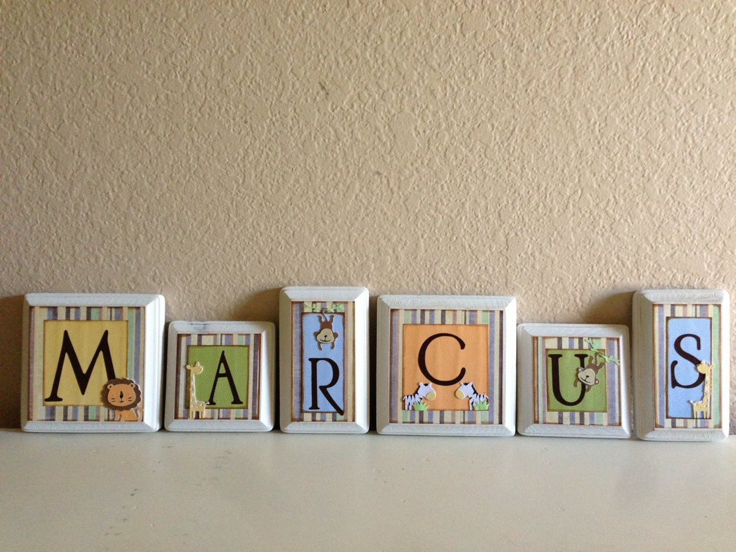 Nursery wall letters baby name letters baby by babybarenecessities