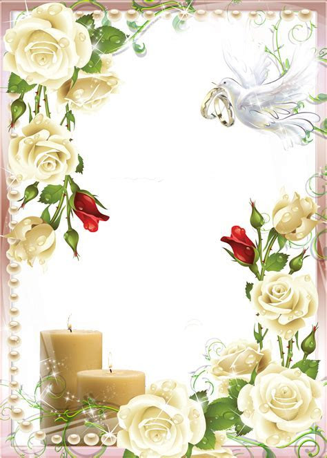 Soft Wedding Photo PNG Frame   Gallery Yopriceville   High