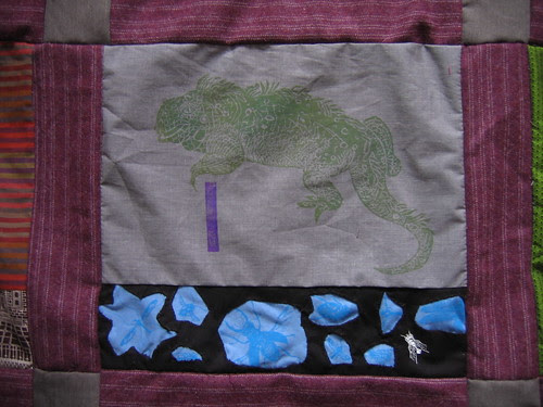 I is for iguana, and insect and indigo