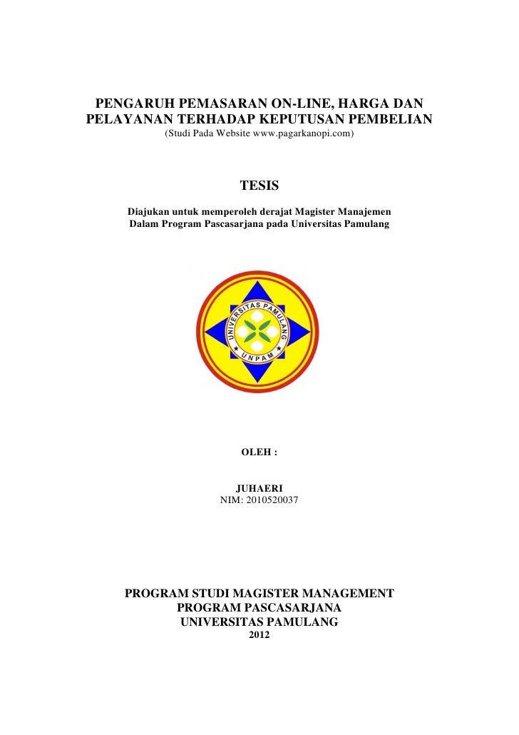 Contoh Cover Proposal Skripsi Unpam Pejuang Skripsi
