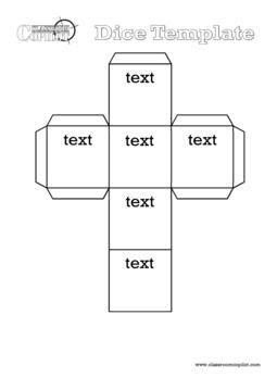 Editable dice - Microsoft Word   Classroom Organisation ...