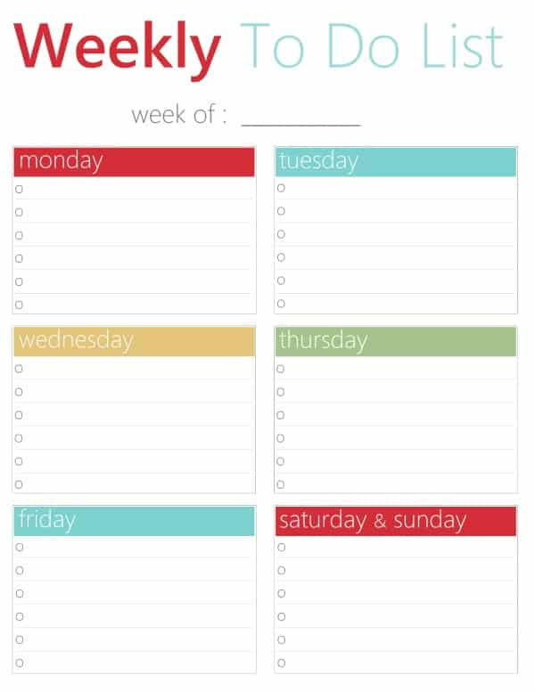 FREE Printable To Do Lists - Daily and Weekly