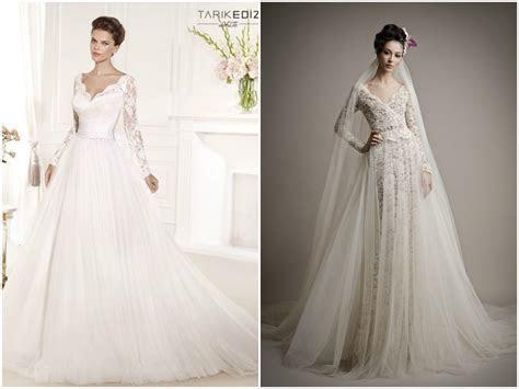 Long sleeve lace wedding dress   Bridal dresses with long